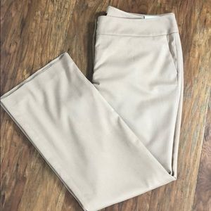 Ann Taylor Tan Dress Pant/Trouser Curvy Fit 16 NWT